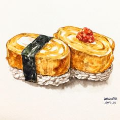 Cute Food, I Love Food, Food Doodles, Food Sketch, Food Cartoon, Watercolor Food, Food Painting, Food Drawing, Aesthetic Food