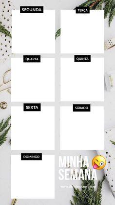 Organização e Planejamento é super importante para ser mais produtiva de presente para você 🎁 Planner Layout, Blog Planner, Weekly Planner, Calendar 2019 Printable, Printable Planner, Diy Agenda, Planners, Note Doodles, Personal Organizer