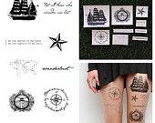 Set Sail - Temporary Tattoo (Set of 18)