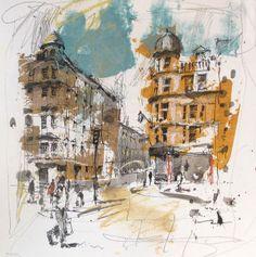 Andrew Hood, Oxford Study, Mixed media