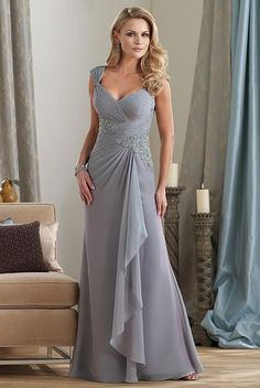 Montage by Mon Cheri Two Tone Chiffon Mothers Wedding Dress 212950 at frenchnovelty.com