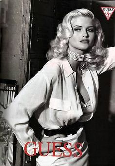 Queen of Curve  Anna Nicole Smith for Guess by Francesco Scavullo