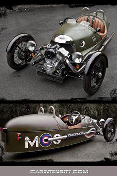 Morgan 3 Wheeler morgan Watch sports car videos at Car Intensity Vintage Sports Cars, Vintage Cars, Moteurs Harley Davidson, Morgan Cars, Reverse Trike, Unique Cars, Top Cars, Car Videos, Amazing Cars