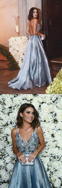 straps blue long prom dress homecoming dress, formal dress evening dress #homecoming #formal
