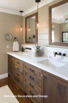 modern bathroom design for small bathroom Diy Bathroom Decor, Bathroom Colors, Bathroom Interior Design, Modern Bathroom, Bathroom Ideas, Restroom Design, Neutral Bathroom, Bathroom Organization, Bathroom Designs