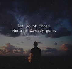 Let go of those..