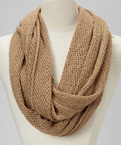 Take a look at this Sand Net Infinity Scarf by Steve Madden on #zulily today!