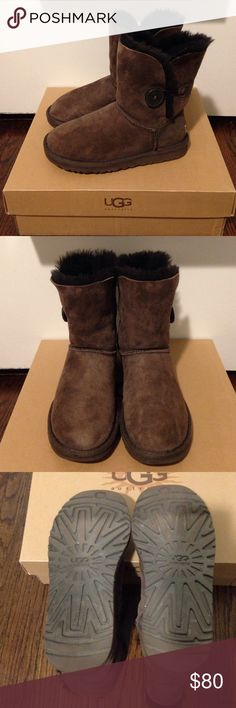 Brown Bailey Button Uggs Brown Bailey Button Uggs. Great condition! In original box. UGG Shoes Winter & Rain Boots