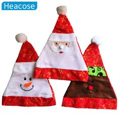 cute Christmas hat santa claus snowman Christmas decoration for home funny New Year hat party Merry Christmas gifts cap navidad