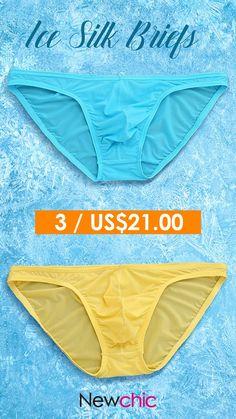 Sexy Breatahble Translucent Ice Silk Briefs for Men Men's Underwear, Seamless Underwear, Lingerie For Men, Sheer Lingerie, Pretty Lingerie, Under Pants, New Chic, Thing 1, Sexy Men