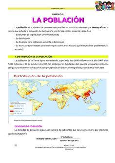 La población – tema 1-  UNIDAD 1:  LA POBLACIÓN La población es el número de personas que pueblan un territorio, mientras ...
