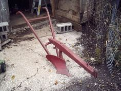 horse drawn plow, like my grandfather used to till up the garden space for my Mother.  Still have the old one horse plow in my own yard.
