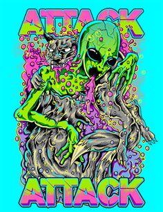 Attack Attack t-shirt artwork