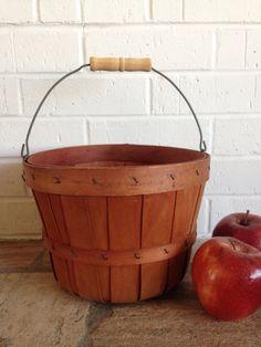 Wooden Splint Orchard Basket with Handle by LittleDixieVintage