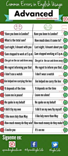 Common Errors in English Usage - Advanced