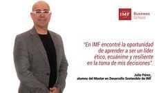 Hoy conocemos en nuestro blog a Julio Pérez, alumno del Master en Desarrollo Sostenible de IMF que se decidió por escribir un libro.