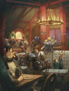 Yawning Portal in Waterdeep > Wait, the entrance to a dungeon is.. in the bar? This is the Best Thing Ever.