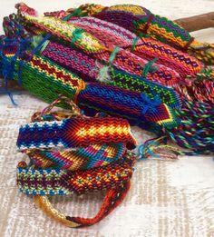 Friendship Bracelets Wide Wholesale 30 Silk Woven Handmade Fair Trade Wristband