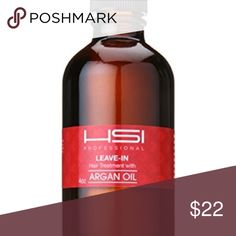 HSI Professional Leave-In Hair Argan Oil 4oz HSI Professional Leave-In Hair Treatment Argan Oil 4oz. Used once but I got a Brazilian blowout and don't need hair oil any longer! Authentic! Works great! HSI Professional Makeup Brushes & Tools