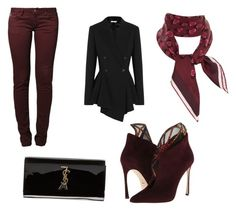 """""""Untitled #9"""" by pinkfluffypuppydoggy on Polyvore featuring Sergio Rossi, Yves Saint Laurent, Le Temps Des Cerises, Givenchy, Gucci, women's clothing, women's fashion, women, female and woman"""