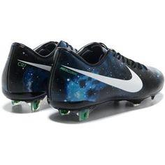 54b197ccb71 Nike Mercurial Vapor IX CR7 Limited Edition FG Cleats Black White Blue  Galaxy0 Soccer Shoes