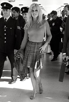 Brigitte Bardot making her way through the airport #werk
