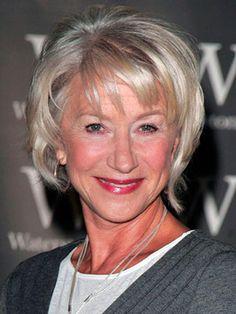 Helen Mirren Beautiful gray hair women