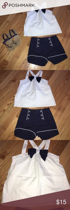 Gymboree Parisian Chic size 5/6 Gymboree shorts and size 5 top is 6. Cute nautical set! Very good condition for both sfpf home⚓️⚓️⚓️ Gymboree Matching Sets