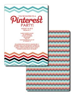 Pinterest Party! Such a great idea! Everyone brings a pinned snack and a craft!