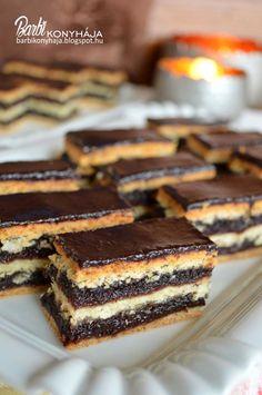 Hungarian Desserts, Hungarian Recipes, Bakery Recipes, Cooking Recipes, Fun Desserts, Dessert Recipes, Croatian Recipes, Sweet Cookies, Best Food Ever