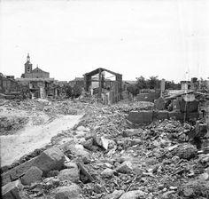Explosión de un polvorín en Fuenlabrada, en torno a los años 40.