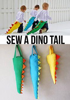 Best DIY Projects: sew a DIY dinosaur (dino) tail
