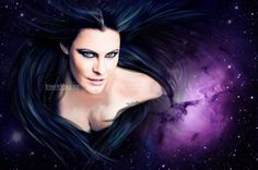 Floor Jansen (Nightwish, ReVamp) digital painting. Full show on www.artwork.blackmag.cz
