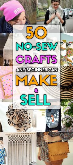 Any beginner can create these no-sew blankets, pillow covers, curtains, bags, and headbands and sell them for extra cash on Etsy, social media, or more! You have to try these no sew projects. #nosew #crafts #craftstosell #craftstomakeandsell #nosewcrafts #etsy #diycrafts