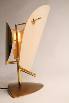Rare 1950s BRASS TABLE LAMP in the manners of by VINTAGELAMPDEN