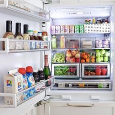 New kitchen organization fridge storage solutions ideas Refrigerator Organization, Kitchen Organization Pantry, Home Organisation, Kitchen Storage, Kitchen Decor, Organized Fridge, Organization Ideas, Storage Ideas, Bedroom Organization