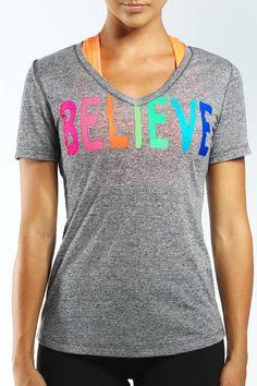 Believe S/Slv T-Shirt - Lorna Jane
