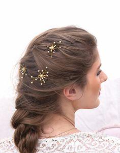 Haar bruiloft pennen ster bloem en Champagne door BeSomethingNew