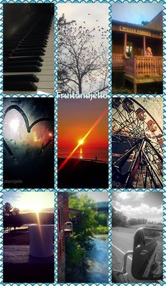 A collage of some of the pictures I've taken myself and edited