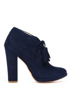 Cole Haan blue suede booties