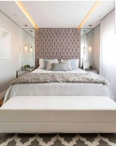 Ideas Bedroom Hotel Decor Home Luxury Bedroom Design, Master Bedroom Design, Dream Bedroom, Home Decor Bedroom, Lux Bedroom, Master Bedrooms, Bedroom Designs, Bedroom Romantic, Bedroom Furniture