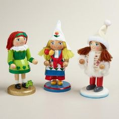 One of my favorite discoveries at WorldMarket.com: International Girl Nutcrackers, Set of 3