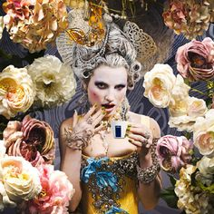 Modern Marie Antoinette and John Galliano, Dior Spring Summer 2010 collection.