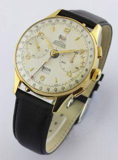 A RARE Gentlemans Angelus Chronodato Triple Calendar Chronograph Wrist Watch | eBay