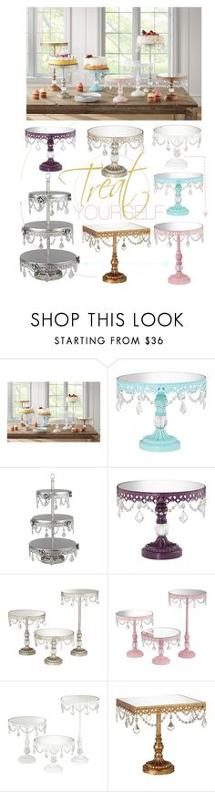"""Treat Yourself"" by lampsplus ❤ liked on Polyvore featuring interior, interiors, interior design, home, home decor, interior decorating, party, wedding, BridalShower and desserts"