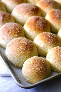 Pandesal, the favorite bread of the Philippines from Karen's Kitchen Stories.