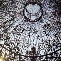 Wrought iron roof...  gazebo