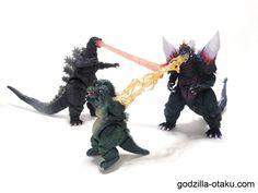 Something is wrong... (Godzilla 1995 Birth Version, Little Godzilla, and Space Godzilla)