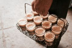 This is how steaming hot chai is  delivered.