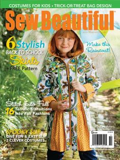 Sew Beautiful Issue 144 | Martha Pullen Kari Mecca's Zippered Raincoat